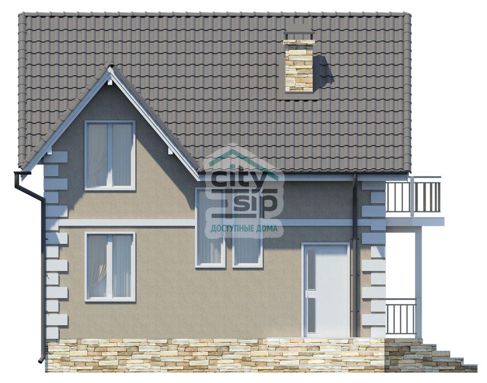 Проект дома из сип панелей п - 7, 109 кв м, 7,5х7 метров.